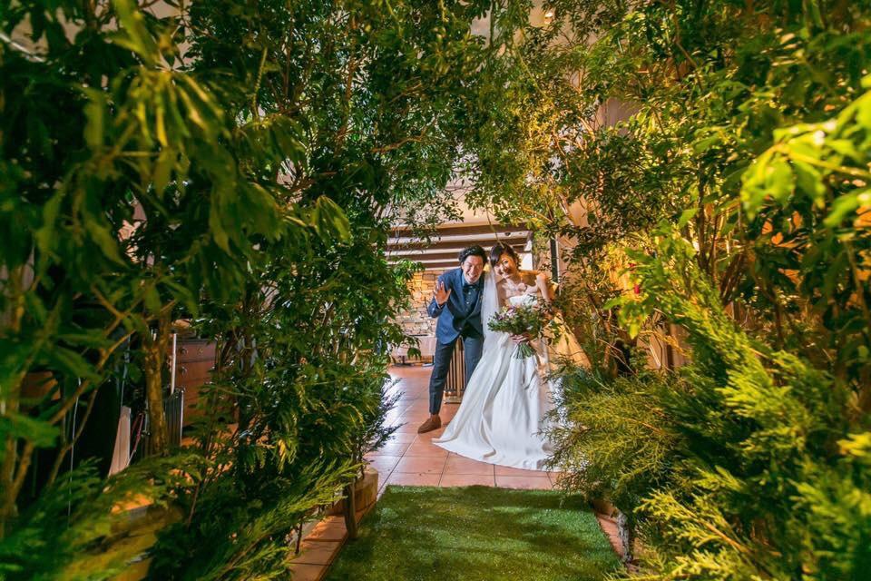 森をイメージした結婚式