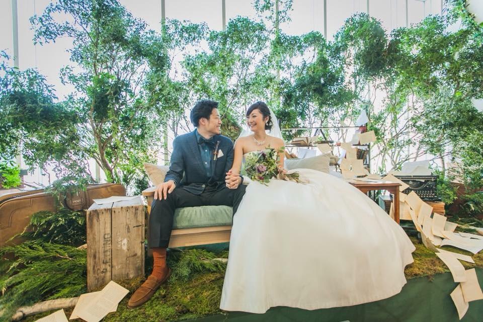 森をイメージした結婚式4